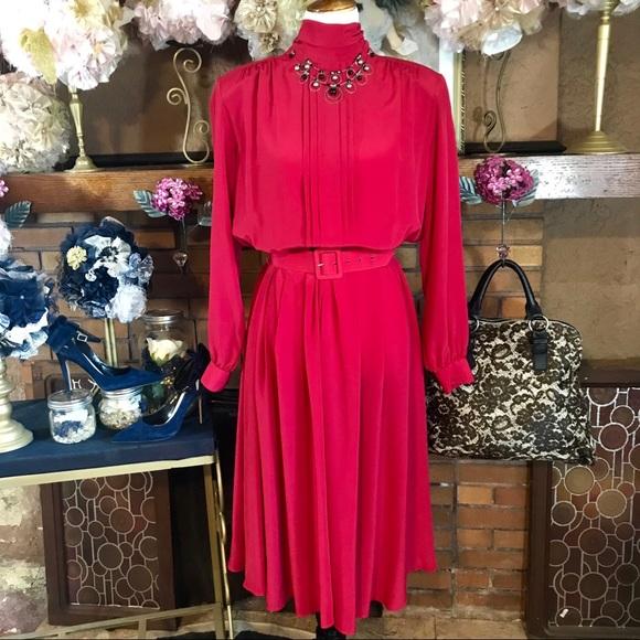 Vintage Dresses & Skirts - VINTAGE 1980'S DRESS (12M)